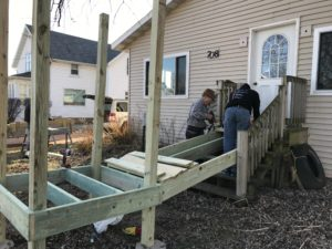 Building Handicap ramp November 2017