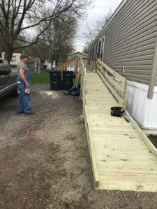 28 ft ramp constructed May, 2018